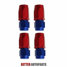 4PC 8AN AN8 -8AN REDBLUE STRAIGHT SWIVEL FUEL OIL HOSE END FITTINGS