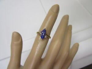 GORGEOUS ESTATE 14 KT GOLD 1.76 CT. TANZANITE AND DIAMOND RING  !!!!!!!
