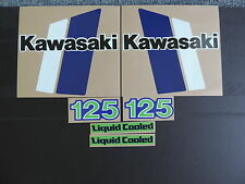 1982 KAWASAKI KX 125 GAS TANK AND SIDE PANEL DECAL KIT VINTAGE MOTOCROSS