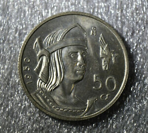 1950 MEXICO SILVER 50 CENTAVOS COIN HIGH GRADE