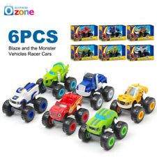 6Pcs Blaze and the Monster Vehicles Racer Cars Trucks Kid  Toys Machines