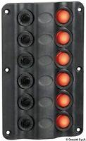 Pannello elettrico Wave 6 interruttori | Marca Osculati | 14.104.02