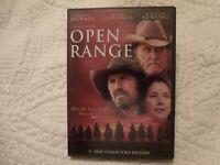 Open Range  Robert Duvall  Kevin Costner  Annette Bening  DVD  Rated R
