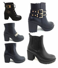 """Women's Synthetic Leather Block Very High (greater than 4.5"""") Heels"""