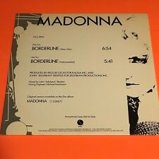 "MADONNA BORDERLINE NEW MIX/INSTRUMENTAL US 12"" PROMO ONLY RARE 1984 PRO-A-2120"
