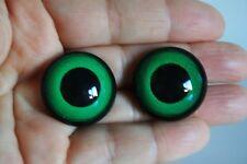 Ojos de seguridad verdes 24 mm para osos de peluche amigurumi juguetes animales