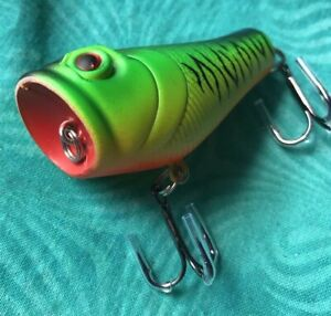 "MINT UNFISHED 2"" Unknown Top Water Popper Frog 🐸 FISHING LURE Bait"