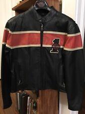 womens harley davidson leather jacket large