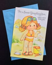 Patty, Little Girl Paper Doll Greeting Card, Unused, 1980's, Buzza