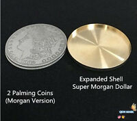 Expanded Shell +2 Palming Coins Magic Set Coin Appearing Tricks Coin Magic 3.8cm