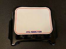 ATC Addiction Front Number Plate in BLACK. 250R 200X 350X Tri-Z Tecate 3 Maier