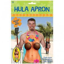 Hawaiian en plastique fête hula girl tablier de cuisine bbq pinny unisexe hula girl design