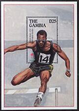 Z255 GAMBIA 1995 Atlanta Olympics, Edwin Moses USA S/S Mint NH