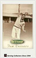 RARE!! 1996 Futera Cricket Heritage Promo Card: #47: Tom Veivers