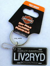 HARLEY DAVIDSON LIVE TO RIDE LICENSE PLATE KEYCHAIN KEY CHAIN LIV2RYD
