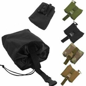 Tactical Molle Foldable Magazine Mag Ammo Drop Dump Pouch Belt Military Belt Bag