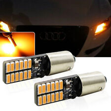 2x Amber Yellow NO OBC Error Bay9s H21W 64136 24-SMD LED Lights Bulbs