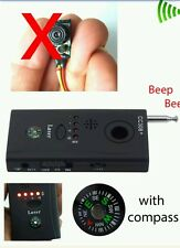 NEW RF Bug Detector Anti-Spy Signal Hidden Camera Lens GSM Device Tracer Finder