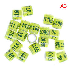 20Pcs 2019 Pigeon Training Supplies Aluminium Foreign Rings Identify Dove 8MmVvV