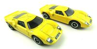 Lot of 2 2014 Matchbox Yellow Ford GT 40 Diecast Metal Toy Cars Loose MINT