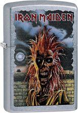 Zippo Iron Maiden Album Cover 1980 Eddie The Head Street Chrome Lighter 29433