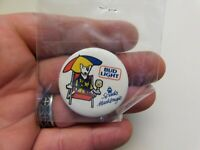 "Bud Light Spuds Mackengie Vintage 1.45"" Slogan/Saying Pin-Back Button"