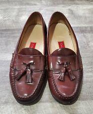 Cole Hann Kiltie Tassel Brown Leather Slip-On Loafers Shoes Men's 9.5 E