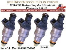 4 Fuel Injectors OEM BOSCH > 1995-99 Dodge Chrysler Mitsubishi Plymouth 2.0L I4
