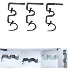 Window Hardware Iron Double Curtain Rod Pole Holder Drapery Brackets Hooks SK