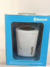 Philips White Wireless Mini Portable Bluetooth Speaker Rechargeable BT100W/37