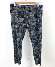 ATHLETA Tie Dye Salutation 7/8 Tight Leggings Yoga 281529 Gray Black L Large