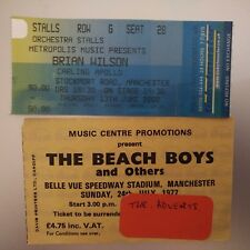 Beach Boys/Brian Wilson 2 concert  tickets 1977 and 2002