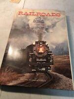 Hardcover Book Railroads The Great American Adventure 1977 Trains