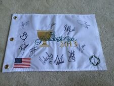 2013 The Presidents Cup Golf Pin Flag Signed by USA Team Jordan Spieth