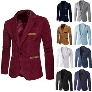 Men Tuxedo Suits Blazer Jacket Evening Business Dress Suit Formal Slim Coat Tops