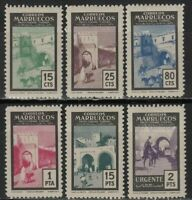 Spanish Morocco 1954. Complete set mint stamps MH, EDIFIL Nº 400/405.