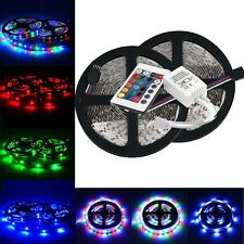 10M 2x5M 3528 SMD RGB 600LEDs LED Strip Lights Lamp +24Key IR remote Controller