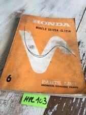 Honda SS125A CL125A SS125 CL125 A  parts list liste catalogue pièce détachée