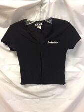 Official Budweiser Girls Black Mini Shirt Sz S/P Micro Rare