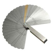2481 Guitar Feeler Gauge Tune Up Gap Thickness Set 32 Blade +Brass Blade