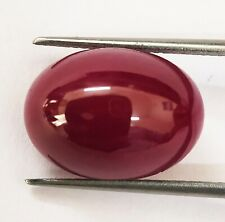 Ruby Oval Cabochon 19.85 Ct 100% Natural No Heat Certified  Loose Gemstone