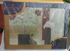 PIMPERNEL PLACE MATS 4 BOXED HARDBOARD DAISY COMPOSITION NEW DAISIES PEAR ARTW