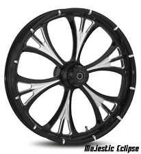 """RC COMPONENTS MAJESTIC ECLIPSE 21"""" WHEELS PACKAGE SET TIRES HARLEY FLH/FLT 2008"""