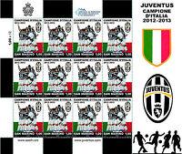 Paquete Sellos Scudetto Juve 2013 San Marino pradal Marino Sello Juventus RARO