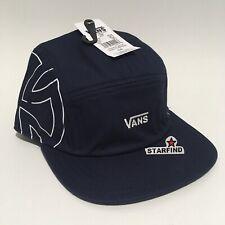 d6af4be50baae2 Vans Independent 5 Panel Camper Navy Blue Cap Hat Black Strap OS NEW Tags  SEE.