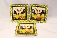 Certified International Oh Happy Day Dan Dipaolo Dinner Plates Lot of 3 Lot C