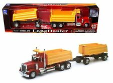 Newray 1:32 Peterbilt Model 379 Double Dump Truck & Trailer Ss-10573A