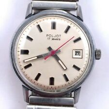 Vintage Soviet POLJOT WindUp watch w/bracelet Serviced USSR VGC *US SELLER* #797