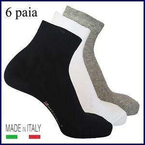 6 paia calze sportive da uomo donna corte cotone calzini sportivi sport tennis