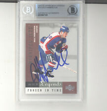 Dale Hawerchuk auto autograph card 2001-02 UD NHL Legends BAS certified Jets